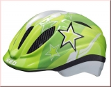 KED Kinder Fahrradhelm Meggy Green Stars Gr. XS 44-49