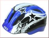 KED Kinder Fahrradhelm Meggy Blue/Black Stars  Gr. S/M 49-55 cm