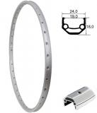 BDCP Alu-Felge 24'' DMS19 silber 19-507 36 Loch VL8,5mm geöst+geschliffen