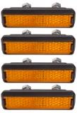 Pedal Reflektoren zum Schrauben Satz=4 Stück StVZO zugelassen