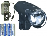 B&M IXON Premium IQ 80 Lux LED Scheinwerfer mit Netzgerät und Akkus