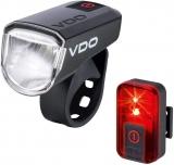 VDO Eco Light M30 Beleuchtungsset mit Akkus und USB Ladekabel