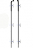 Sapim Strong ED-Speiche 2,34-2,0 silber