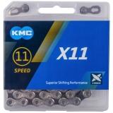 KMC X11 Schaltungskette 11-fach silber/ schwarz 1/2'' x 11/128''- 114 Glieder