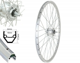 Bärwinkels 28 V-Rad CUT19 silber geöst Nabendyn.BDCP Anlun MU silber Sp.Ni.si