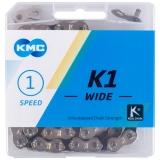 KMC Kette K1 Wide Silber/Schwarz