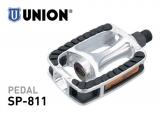 Union Alu Sportpedal SP-811 Reflektoren rutschfeste Trittfläche silber/schwarz