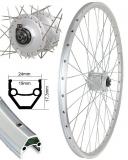Bärwinkels 28 V-Rad CUT19 silber geöst Nabendyn.DHC30003 SNSP silber Sp.Ni.si