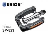 Union Alu Sportpedal SP-823 Gummiblock mit Reflektoren silber/schwarz 9/16